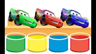 LIGHTNING MCQUEEN Bathing Colors Fun - Learn colors with Disney Pixar Cars 3 McQueen for children