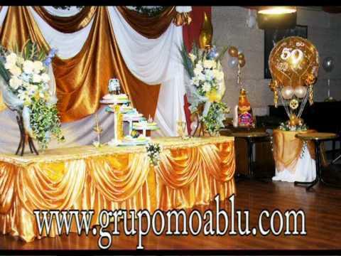 Moablu y decoraciones de fiestas youtube for Decoracion salon 50 anos hombre