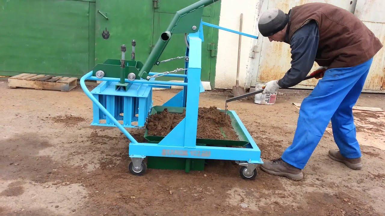 Производство пескоблоков как бизнес: оборудование, станок 14