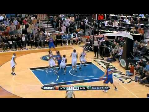Wolves vs Knicks 2010-2011 Kevin Love 31 pts 31 rebounds