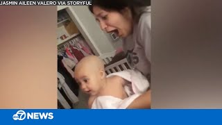 Mom shocked after dad shaves baby's head