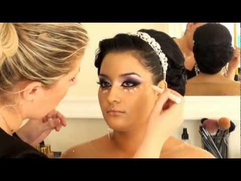 מריה מסלרסקי - איפור כלה Maria Maslarski Arabic Black Purple Khaleeje makeup 2013
