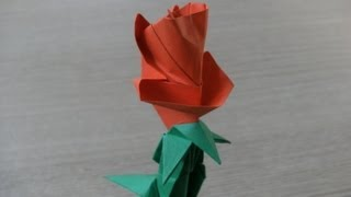 3d Origami - Flower - Rose - Róża - How To Make