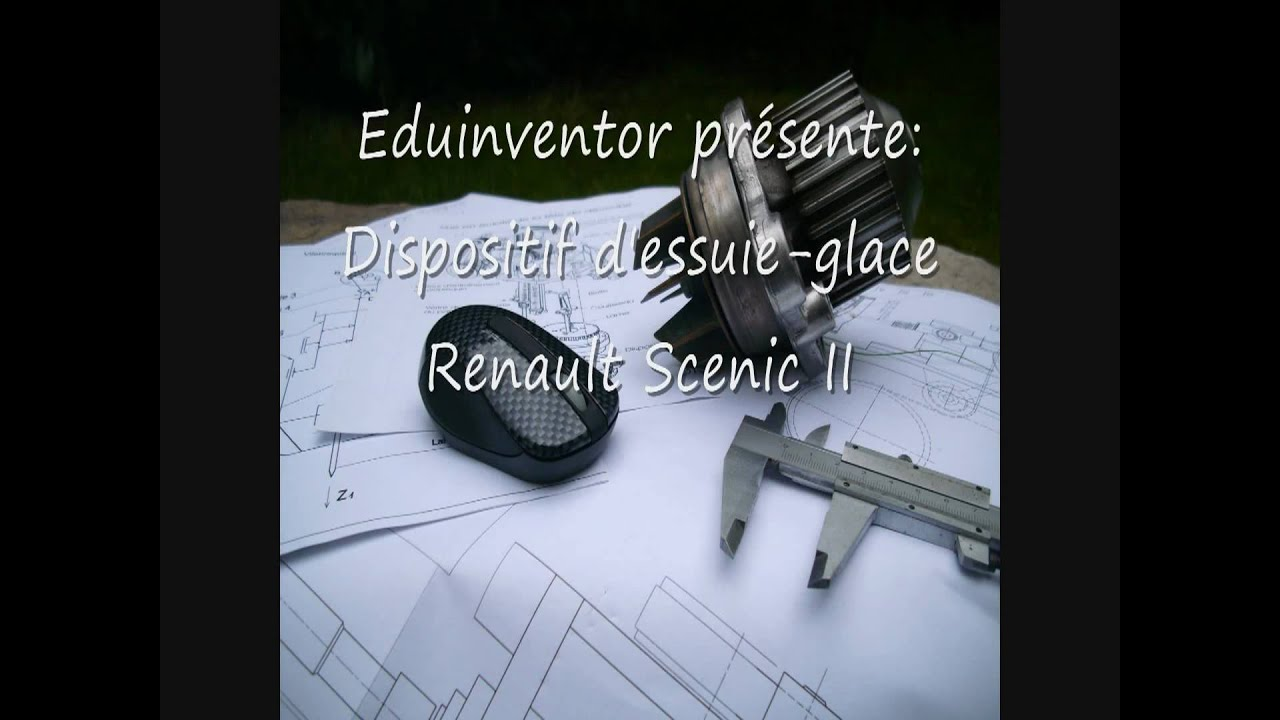 dispositif d 39 essuie glace renault scenic youtube. Black Bedroom Furniture Sets. Home Design Ideas
