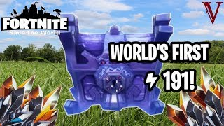 World's First LEVEL 191 Storm Chest! | Fortnite Save the World | TeamVASH