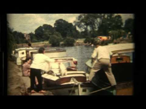THAMES RIVER 1960s OLD MOVIE FILM BOATS ON THE RIVER.