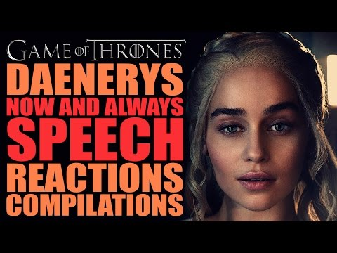 Game Of Thrones Season 6   Daenerys Now And Always Reactions Compilation