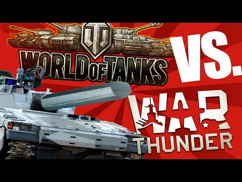 Танки в War Thunder против World of Tanks