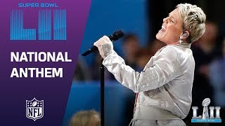 Download Lagu P!nk Belts Out the National Anthem! | Super Bowl LII NFL Pregame Gratis STAFABAND