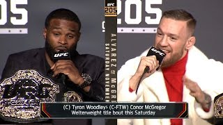 Conor McGregor vs Tyron Woodley TRASH TALK & BACKSTAGE