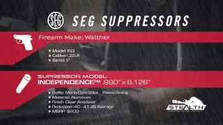 SEG Suppressors Independence Silencer on Walther P22 Suppressed .22cal 3 of 15