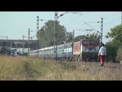 Super Sexy Monster Brc Wap-4e# 22393 Airavat Accelerating With Swaraj Express !!!! video