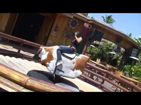 Sunny Leone Rides A Bull At Universal Studios | Hd video