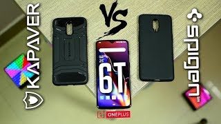 Oneplus 6T Spigen Liquid Air Vs Kapaver Rugged Armor Cases