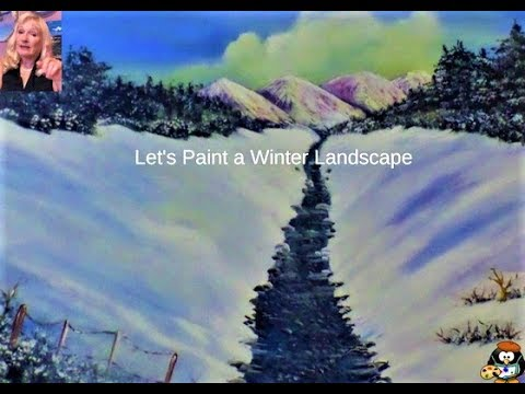 How to Paint a WINTER Landscape with Acrylic Paint for beginners step by step FULL lesson