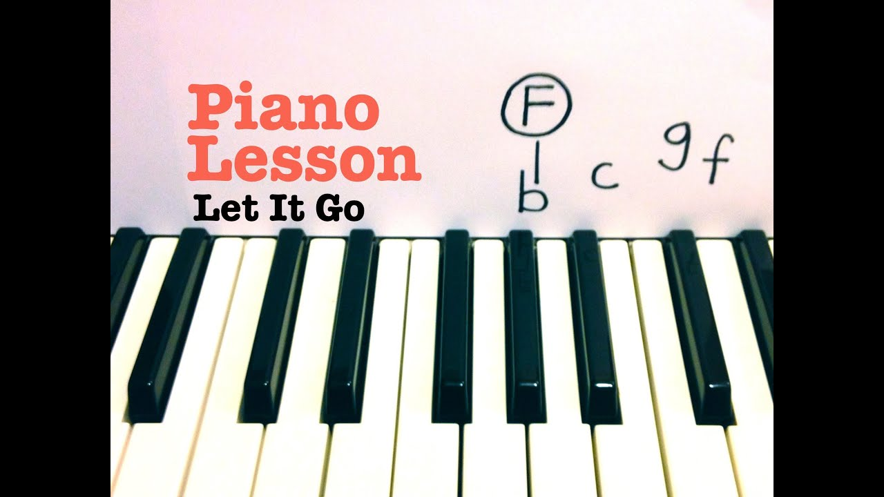how to play let it go on piano really easy