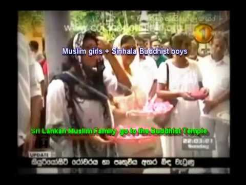 Sri Lankan Muslim family go to the Buddhist temple(Gangaramaya in Colombo)-Asad sali
