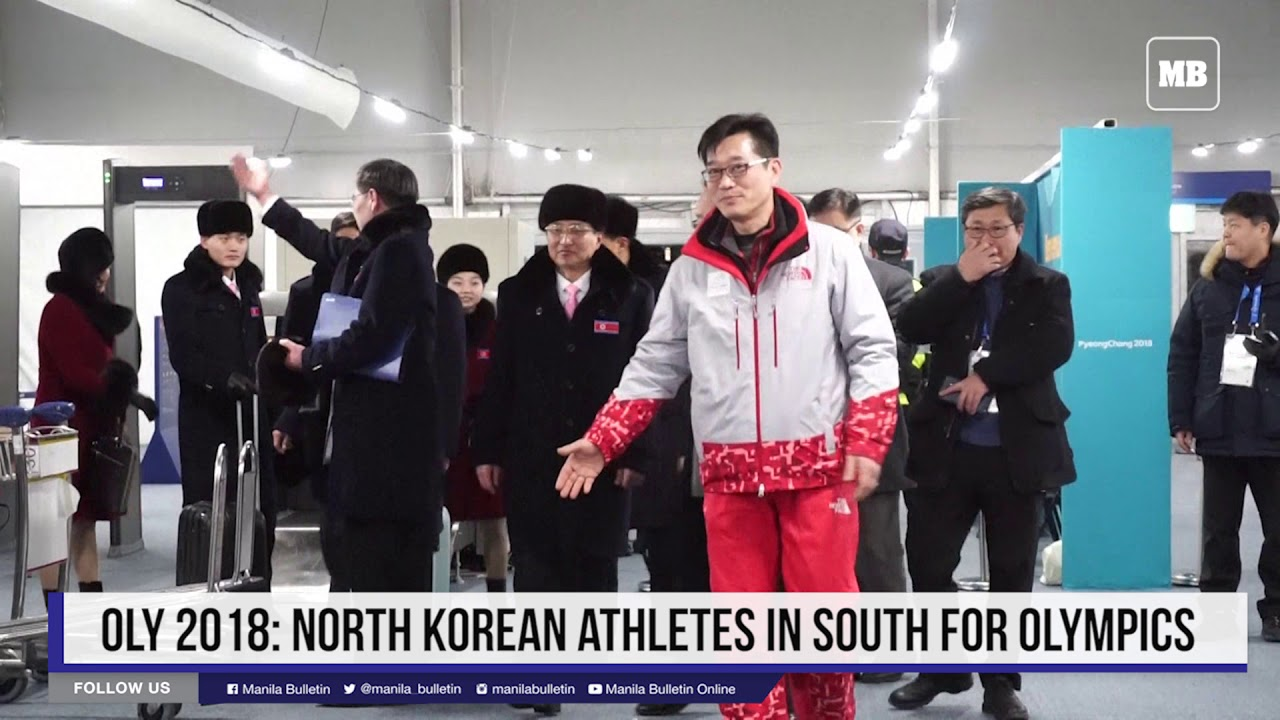 Oly 2018; North Korean athletes in South for Olympics