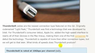 USB 2.0 vs. USB 3.0 vs. eSATA vs. Thunderbolt vs. Firewire vs. Ethernet Speed