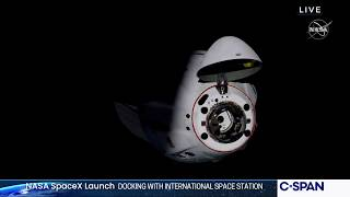 NASA SpaceX Crew Dragon Docks with International Space Station