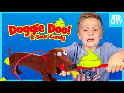 Doggie Doo Game and Sour Candy Challenge!! Funny Family Game with KIDCITY