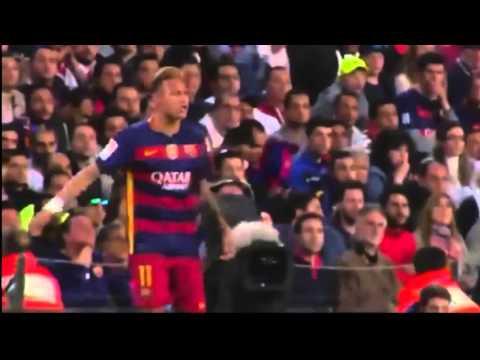 Tremendous fight Jordi Alba and Neymar during Barcelona vs Valencia