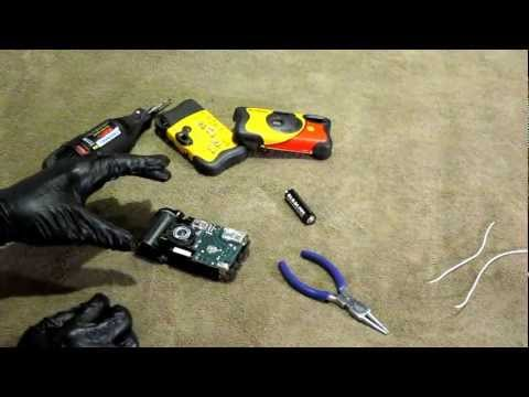 how to make a taser out of a capacitor