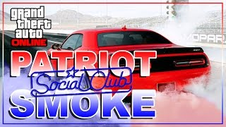 GTA 5 Online - Patriot Tire Smoke Glitch! Red White Blue Smoke! GTA 5 Glitches!
