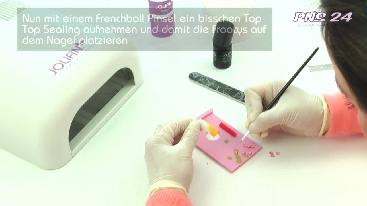 Nailart Anleitung Fu00fcr Jolifin Frootys / Tutorial - YouTube