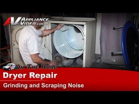Dryer Repair & Diagnostic - Grinding and scraping noise - Maytag. Whirlpool.Roper  - LDE4914ACL