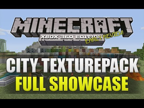 Minecraft Xbox 360: NEW City Texturepack Full Showcase EARLY REVIEW