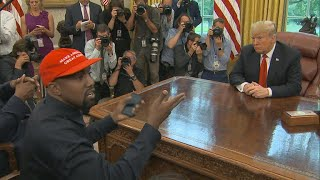 Kanye West steals spotlight from Trump in Oval Office  from CBS News