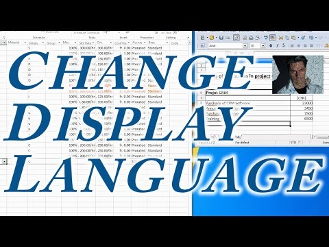 MS Project:  Change Display Language ●  Easy  ●  Office 2013