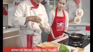 Cách chế biến Bánh mì trứng đánh thịt nguội