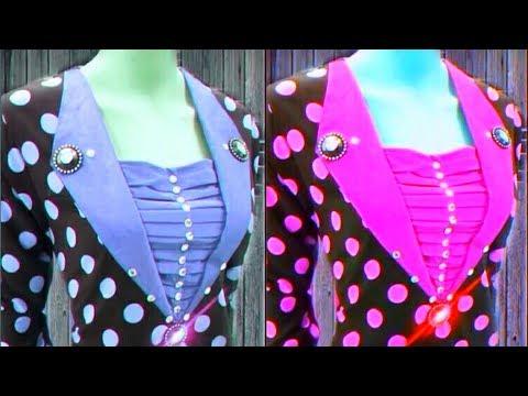 How to make fancy neck design./ गले का फैंसी डिजाइन