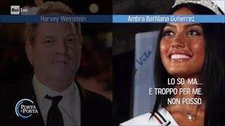 Scandalo Weinstein: l'audio con la modella Ambra Battilana Gutierrez - Porta a Porta 12/10/2017 streaming
