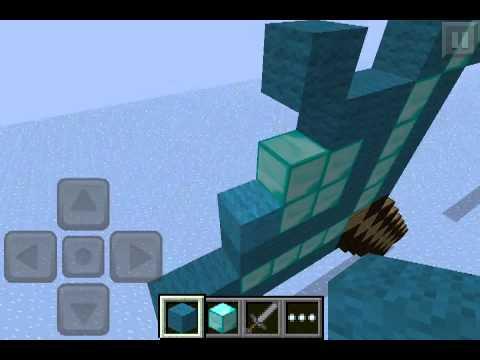 Minecraft PE Pixel Art!!!! How To Make Diamond Sword