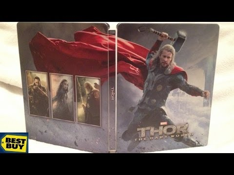 Thor: The Dark World SteelBook - 3D - Best Buy Exclusive Blu-ray Unboxing - (2013) Marvel/Superhero