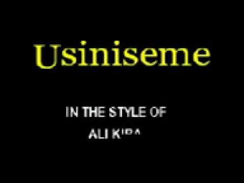 Usiniseme By Ali Kiba Cloudnine Sing Along Video video