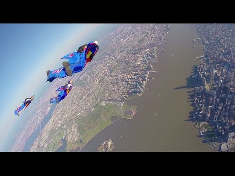 Wingsuit Flying Over New York City FULL POV klip izle