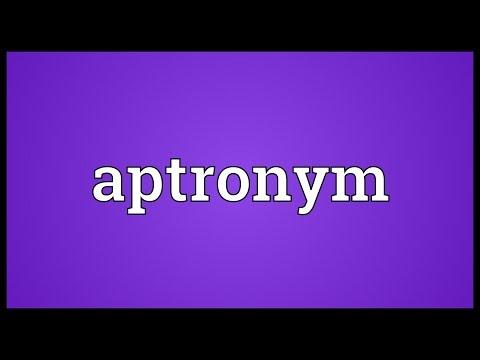 Header of Aptronym