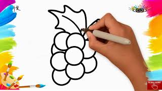 How to  DRAW |Learn drawing for kids |grape