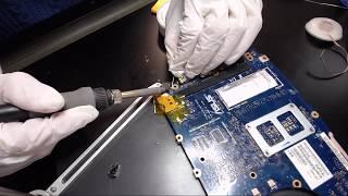 Asus Q302l Laptop dc power jack repair fix charge port broken socket