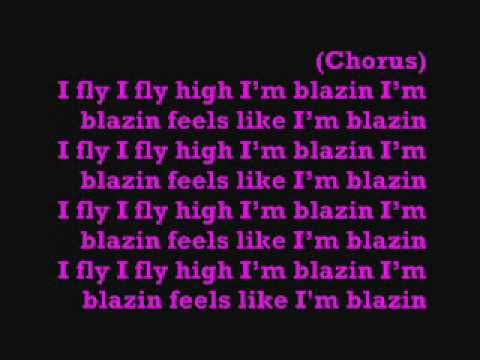 Nicki Minaj Blazin Ft. Kanye lyrics on screen