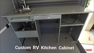RV Custom Kitchen Cabinet Conversion DIY Install Mercedes Sprinter Van