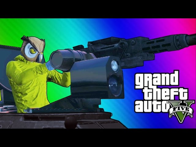 GTA 5 Online Funny Moments - Paper Bag Man, Valkyrie Chopper, Night Owl Cave! (GTA 5 Heists Update)