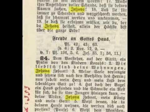 Il Nome di Dio JEHOVA - 1922 - Die Heilige Schrift Miniaturbibel Schlachter Name of God Geova