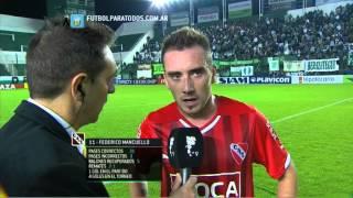 """Mancuello: """"Hay que corregir errores"""". Banfield 0 - Independiente 1. Fecha 6. Primera División 2014"""