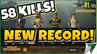 58 KILLS NEW WORLD RECORD!! SQUAD FPP RECORD!! | PUBG Mobile