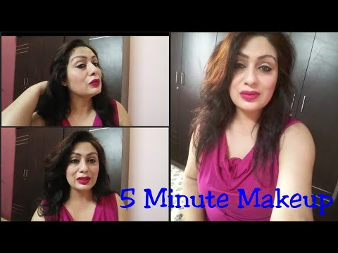 Everyday Makeup Tutorial For Beginners | 5 Minute Makeup Challange | Everyday Makeup Routine